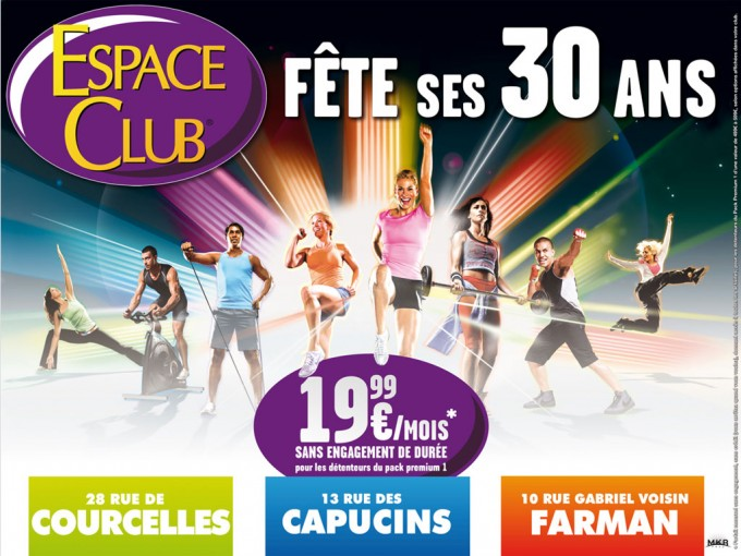 Espace Club campagne publicitaire