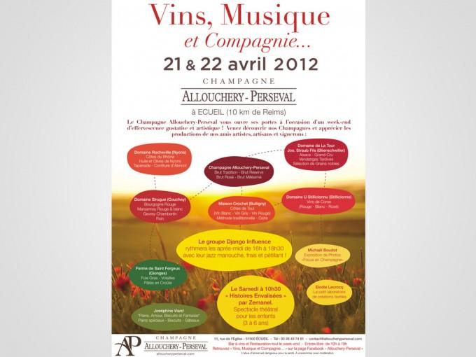 affiche festival vin musique et cie